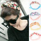 Women Hair Accessories Hot Sale Lovely Garden Floral Ribbon Headband Scarf Band