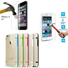 Rubber Phone Case Cover+Tempered Glass Film Screen Protector For iPhone 6&6 PLUS
