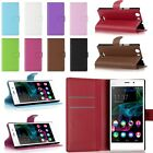 Wallet Flip Leather Stand Case Cover w/ Card Slot For Wiko Series Cell Phone