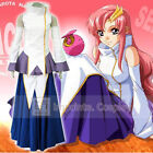 Mobile Suit Gundam SEED Lacus Songstress Dress Cosplay Costume Full Set FREE P&P
