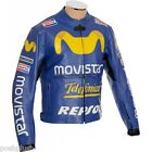 MotoGP Rossi Rep Movistar Telefonica Blue Biker Motorcycle Pro CE Leather Jacket