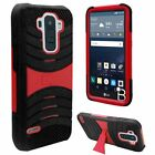 For LG G Stylo Hard Gel Rubber KICKSTAND Case Protector Phone Cover Accessory
