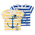 2016 Summer Baby Toddlers Child Kids Boys Girls Stripe Anchor T-Shirt Top 2-7Y