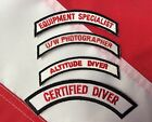 Scuba diver patch dive equipment fun gift snorkeling jacket hat fun  novelty