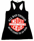 MOTLEY CRUE Tank Top T-shirt Final Tour Heavy Metal Hard Rock Womens JUNIORS