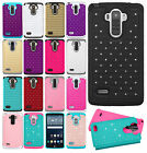 For LG G Stylo HYBRID IMPACT Dazzling Diamond Layered Case Phone Cover Accessory