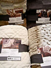 Threshold Faux Fur Throw Blanket Black, Brown or Ombre Gray Mink 50x60 NEW