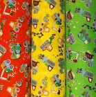 Diggers and Trucks Polycotton Fabric - Great for Curtains & Bedding (1/4m - mtr)
