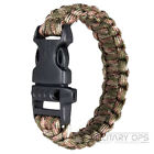 WEB-TEX SURVIVAL WRIST BAND PARA CORD CAMO CAMPING EMERGENCY MILITARY ARMY