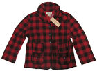 Ralph Lauren Womens Denim & Supply Red Cotton Checkered Button Jacket Coat New