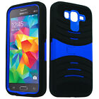 Samsung Galaxy Grand Prime Hard Gel Rubber KICKSTAND Case Cover +Screen Guard