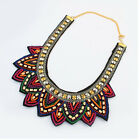 Retro Women Statement Crystal Beaded Collar Necklace Choker Special National