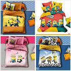 Minions Doona Duvet Quilt Cover Set Single/Double/Queen Size Cartoon Bed Cotton