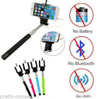 Selfie Stick Cable take Self Portrait Pole Monopod for iPhone 6 5 5s 6 Android