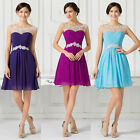 Short Cocktail Party Prom Dress Evening Homecoming Bridesmaid Teens Mini Dresses