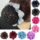 Women Bun Cover Snood Hair Net Slumber Sleep Ballet Dance Skating Crochet Decor