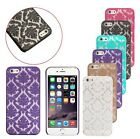 Damask Vintage Lace Floral Pattern Hard Matte Case Cover for iPhone 6/6 Plus
