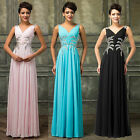 Womens Ladies Sexy Prom Dress Long Maxi Evening Formal Sleeveless Ball Gown Pink