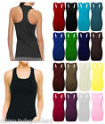 Womens Sleeveless Muscle Vest Ladies Racer Back Bodycon Gym Sports Top 8-26