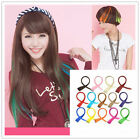 55cm Straight Clip In Hair Extensions Girl Lady Colored Synthetic Hair Extension