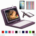 """Micro Keyboard Leather Case Cover+Gift For 7"""" Proscan 7 Inch Android Tablet"""
