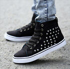 2015 New Fashion Korean High-Top Canvas Mens Rivet Casual Sports Shoes