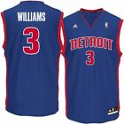 Mens Detroit Pistons Shawne Williams adidas Blue Replica Jersey