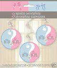 New Boys Girls Baby Shower Gender Reveal Hang Swirl Party Decorations Pack of 3