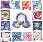 Square Artifical Silk Scarf Printed Women's Polyester Scarves Handkerchief