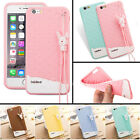 Cute Girl Silicone Rubber Soft TPU Cover Case+ Lanyard For iphone 4 5C 5S 6 plus
