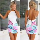 Sexy Women Summer Backless Mini Dress Floral Ladies Short Clubwear Bodycon Dress