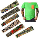 1 Pair Stretchy Fake Tattoo Sleeve Arm Stocking Outdoor UV Bicycle Football NEW