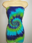 LADIES TIE DYE DYED LONG BOOBTUBE OR SHORT DRESS IF U DARE BY SUPRE SIZES XXS XL