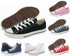 GIRLS BOYS CONVERSE ALL STAR OX HI CANVAS TRAINERS LO SHOES WHITE BLACK NAVY RED