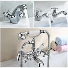 Victoria Traditional Bath Shower Filler Mixer Tap Bathroom Sink Basin Taps Kits