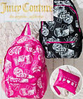 RARE travel bag fashion light weight juicy couture foldable backpack pink black