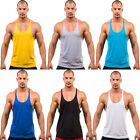 New Men Blank Stringer Y Back Tank Top Gym Fitness Shirt Sports Vest Muscle Tops