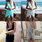 Sexy Women Summer Casual Sleeveless Party Evening Mini Dress Beach Vintage Dress