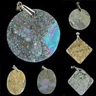 Natural Druzy Drusy Gemstone Agate Metalic Titanium Coated Geode Pendant Beads