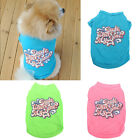 Pet Puppy Small Dog Cat Vest T-Shirt Coat Summer Clothes Apparel Costumes Cute