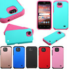 GoPhone ZTE Maven HARD Astronoot Hybrid Rubber Silicone Case Cover +Screen Guard