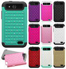 For GoPhone ZTE Maven HYBRID IMPACT Dazzling Diamond Case Phone Cover Accessory