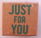 Just For You Qutoe Words Writing Gift Tag Studio G Wooden Rubber Stamp