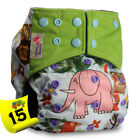 Washable Baby Pocket Nappy Cloth Reusable Diaper BAMBOO CHARCOAL Cover Wrap