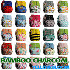 Внешний вид - Washable Baby Pocket Nappy Cloth Reusable Diaper BAMBOO CHARCOAL Cover Wrap