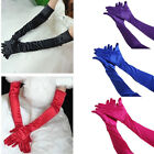 Womens Satin Evening Gloves 21'' Long Party Dance Elbow Length Opera Gloves US
