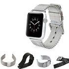 Stainless Steel Mesh Bracelet Loop Strap Watch Hole Band for Apple Watch 38/42mm