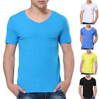 Sexy Summer Men's Comfortable Modal Short Sleeve V-Neck T-Shirt Basic Tee Tops