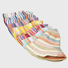 LWX Sunscreen Foldable Women Sunhat Rainbow Striped Bumao Beach Hat Holiday