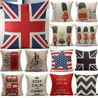 Retro Vintage London British Style Pillow Case Cover Cushion Home Sofa Car Decor